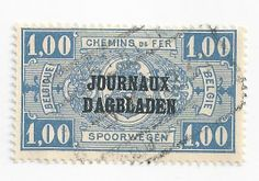 Belgium P27. This is a newspaper stamp from Belgium, used to mail newspapers within that country.