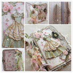 Lace Book by LLC DT Member Tracy Payne. Papers from Maja Design's Sofiero collection.