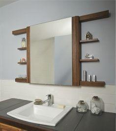 meuble salle de bain miroir coulissant