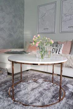 Marmorisohvapöytä, marble table, olohuone