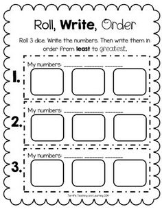 Use this quick and easy activity to reinforce number order, least to greatest and greatest to least. Page 3 can be used as the back for both versions.