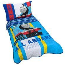 Thomas the Train Toddler Bedding 4 Piece Set - Blue by Thomas & Friends, http://www.amazon.com/dp/B00343FQHW/ref=cm_sw_r_pi_dp_TIkErb016MRS3