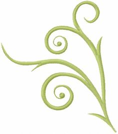 Green swirl decoration free embroidery design - Decoration element - Machine embroidery forum
