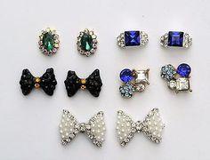 10-pc-White-Pearl-Nail-Charm-Blue-Gem-Nail-Art-Bow-Nail-Charm-Nail-Studs