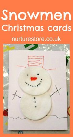 15 DIY Christmas Cards Kids Can Make; a collection of 15 amazing yet simple Christmas Card Craft ideas for kids from toddler to teen! Simple Christmas Cards, Christmas Card Crafts, Homemade Christmas Cards, Christmas Snowman, Handmade Christmas, Christmas Letters, Felt Snowman, Holiday Cards, Christmas Ideas