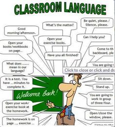 Useful phrases to use in the classroom.