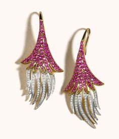 Zoya ~ a collection gold, ruby and diamond earrings from the Espana collection