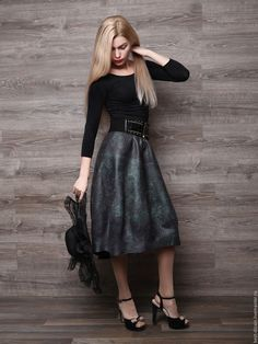 """Купить Юбка -баллон """"Вояж"""" - комбинированный, валяная юбка, юбка, юбка длинная, юбка валяная"""