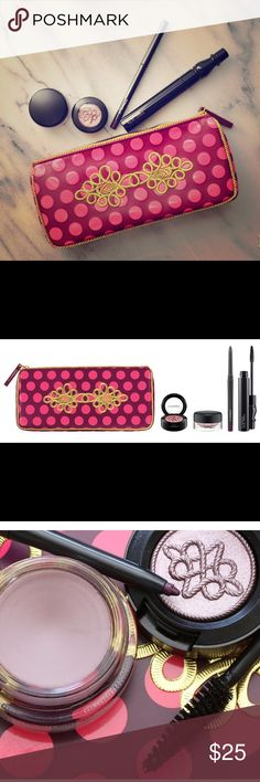MAC Nutcracker Sweet Plum Eye Set Brand new AUTHENTIC MAC Sweet Plum Eye Set. Limited-edition collection of coordinated hues for your eyes, presented in a fuchsia and burgundy clutch with embroidered gold accents. ***IT DOES NOT INCLUDE THE EYESHADOW***  Kit includes: - Full-size Technakohl Eyeliner in Purple Dash (intense aubergine) - Full-size Pro Longwear Paint Pot in Stormy Pink (muted grey purple) - Full-size False Lashes Mascara in False Black (black) Item MAC Cosmetics Makeup