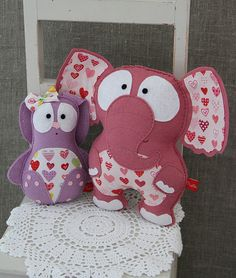 elephant and rabbit with hearts