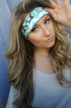 Reversible Teal  Realtree Camo & Teal Chevron by TheWoodenAntler