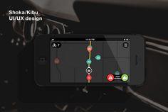 Navigation interface for design challenge on Behance