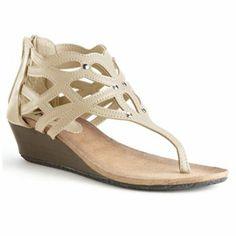 Bucco Fridas Cutout Wedge Thong Sandals - Women