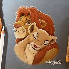 The Lion King - Disney - Simba Simba Et Nala, Roi Lion Simba, Le Roi Lion, King Simba, Cute Disney Drawings, Disney Sketches, Cute Drawings, Drawing Disney, Disney Kunst