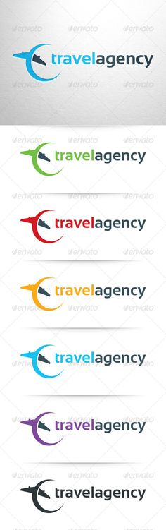 Travel Agency Logo Template — Photoshop PSD #plane #vector • Available here → https://graphicriver.net/item/travel-agency-logo-template/6868257?ref=pxcr