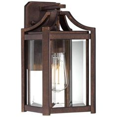 "Rockford Collection 12 1/2"" High Bronze Outdoor Wall Light - #V5567"