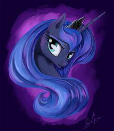 u - 💙Princess Luna💙 - Sketch My Little Pony Poster, My Little Pony Drawing, Mlp My Little Pony, My Little Pony Friendship, Princesa Celestia, Celestia And Luna, Nightmare Moon, Unicorn Fantasy, Little Poni