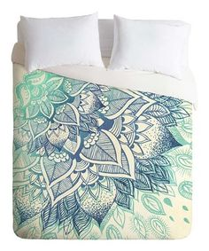 Look at this #zulilyfind! Mint & Blue Rosebudstudio Lovely Soul Duvet Cover by DENY Designs #zulilyfinds