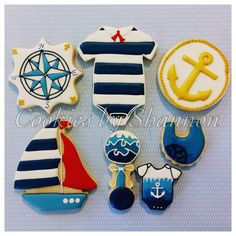Nautical baby shower | Cookie Connection