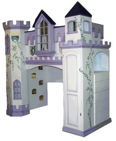 Neuschwanstein Castle Bunk Bed at LuxuryLamb. Shop for Neuschwanstein Castle Bunk Bed from Novelty Bunk Beds / Twin over Twin collection at affordable prices. Bunk Beds Built In, Bunk Beds With Stairs, Kids Bunk Beds, Loft Beds, Childrens Bedroom Furniture, Baby Furniture, Princess Castle Bed, Princess Beds, Castle Bedroom
