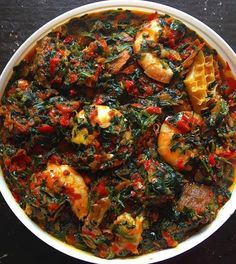 Food to eat during pregnancy in Nigeria. You are in the right place about West African food desserts Here we offer you the most beautiful pictures about the West African food cameroon y Vegetable Soup Recipes, Healthy Soup Recipes, Cooking Recipes, Atkins Recipes, Nigeria Food, Cameroon Food, Ghana Food, West African Food, African Stew