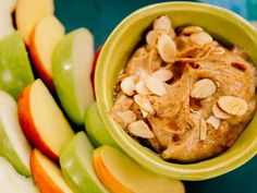 Dip Recipes 393009504985439129 - Get Almond Butter Yogurt Dip Recipe from Food Network Source by dnrdnr Yummy Snacks, Healthy Snacks, Healthy Eating, Healthy Recipes, Healthier Desserts, Almond Recipes, Yummy Food, Dip Recipes, Snack Recipes