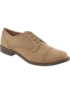 Women's Faux-Suede Oxfords
