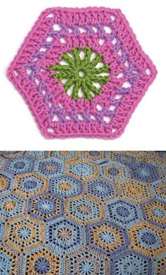 "Free pattern for Motif no. 48 from ""Beyond the Square"" by Edie Eckman, makes a fairly large hexagon.  There's also a very helpful CAL on the Lion Brand website to make the afghan ~ http://blog.lionbrand.com/2009/10/15/motif-afghan-crochet-along-the-finish-line/  See Ravelry Project Gallery for other examples ~ http://www.ravelry.com/patterns/library/motif-48  . . .  ღTrish W ~ http://www.pinterest.com/trishw/  . . . #crochet #afghan #bblanket #throw"