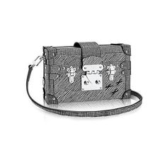 Petite Malle Epi Leather (103,605 MXN) ❤ liked on Polyvore featuring bags, handbags, epi leather handbags, studded handbags, travel handbags, studded bag and travel bag