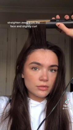Hair Tips Video, Hair Videos, Hair Up Styles, Medium Hair Styles, Curled Hairstyles, Long Straight Hairstyles, Hair Curling Tips, Curly Hair Tips, Aesthetic Hair