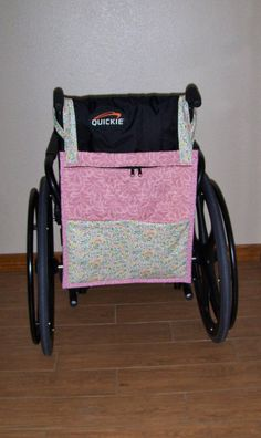 Pink Floral Prints  Zippered WheelChair Tote/Bag