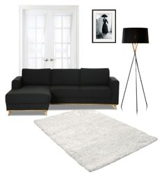 """Black and white living room"" by zeadaniella ❤ liked on Polyvore featuring interior, interiors, interior design, hogar, home decor, interior decorating, Royal Velvet y living room"