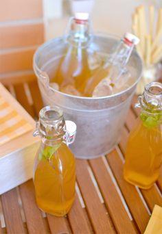 Apricot iced tea - Té helado de albaricoque