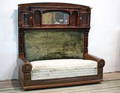 Старинный кабинетный диван с ящиками, артикул ДВ-1961. Контора К
