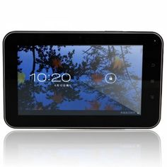 "Android Tablet  PC with SD Card  This tablet comes with a boxchip A13-1.5GHZ CPU, Google android 4.0 system, 4GB storage, 7"" TFT touch screen, 1.3 mega pixel camera and can get internet anywhere covered by Wi-Fi hotspots."