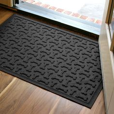 Dog Treats Door Mat from Water Guard - use it at the front door or under a dog bowl. Comes in a variety of colors.