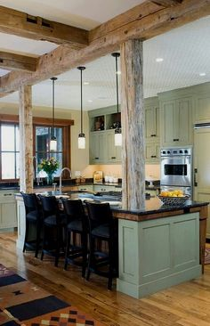 Divine How to remodel kitchen layout tricks,Small kitchen renovation before and after ideas and Kitchen remodel franklin tn tricks. Rustic Country Kitchens, Rustic Kitchen Design, Farmhouse Kitchen Decor, Home Decor Kitchen, New Kitchen, Kitchen Ideas, Kitchen Designs, Rustic Farmhouse, Kitchen Photos