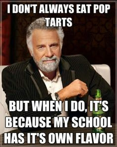 UNC Pop tarts....yes I have some! (and my school has ITS own flavor.... sorry to whoever created this)