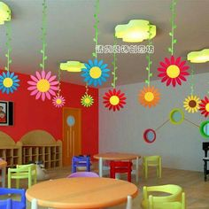 Class Decoration Pics Numbers Wall Decorations For School Printable Classroom Ideas Kindergarten Teacher Preschool Door Kg Charts Classroom Ceiling Decorations, Classroom Wall Decor, Classroom Walls, School Decorations, Classroom Themes, Preschool Classroom, Hanging Decorations, Garden Theme Classroom, Classroom Images
