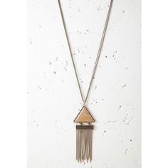 Forever 21 Fringed Triangle Pendant Necklace ($9.90) ❤ liked on Polyvore