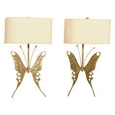 Unique Pair of Butterfly-Motif Sconces http://www.1stdibs.com/furniture/lighting/sconces-wall-lights/unique-pair-of-butterfly-motif-sconces/id-f_756244/