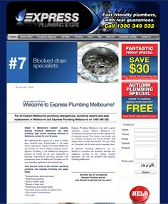 icu2 regularly maintains the Express Plumbing website and SEO. Please visit www.expressplumbing.com.au    For more information about icu2's range of web design & development services, please visit http://www.icu2.com.au