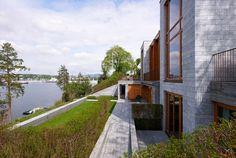 Single family house / Dark Arkitekter / Residential / Bygdøy, Oslo, Norway Oslo, Single Family, Norway, Sidewalk, Dark, House, Home, Side Walkway, Walkway