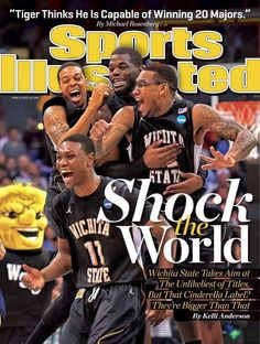 Wichita State makes the cover of Sports Illustrated Wichita State macht das Cover von Sports Illustrated Wsu Basketball, Basketball Games For Kids, Basketball Players, Basketball Shoes, Football, Kansas Usa, Kansas City, Go Shockers, Si Cover