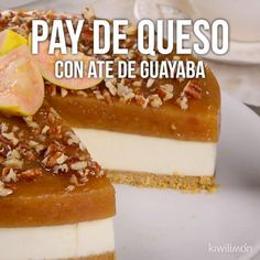 Pay de Queso con Ate de Guayaba - Mailbox Tutorial and Ideas Köstliche Desserts, Delicious Desserts, Dessert Recipes, Yummy Food, Mexican Food Recipes, Sweet Recipes, Deli Food, Comfort Food, Savoury Cake