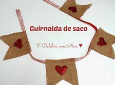 Guirnalda de tela de saco (arpillera)
