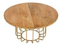 Broxbourne Coffee Table, Brass £229