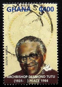 Archbishop Desmond Tutu Peace 1984 South by PassionGiftStampArt