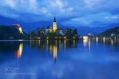 Bled at twilight by Haidamac check out more here https://cleaningexec.com