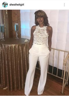 All White Party Outfits, White Outfits For Women, Clothes For Women, Fall Outfits, White Pants Outfit, All White Outfit, Bachelorette Outfits, Stylish Outfits, Fashion Outfits